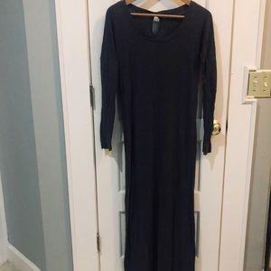 ANTHROPOLOGIE super soft gray maxi dress